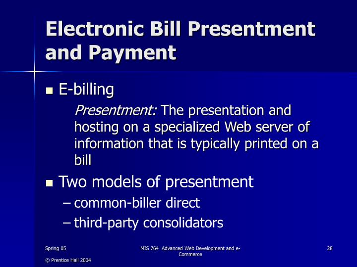 Electronic Bill Presentment