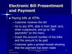 electronic bill presentment and payment1
