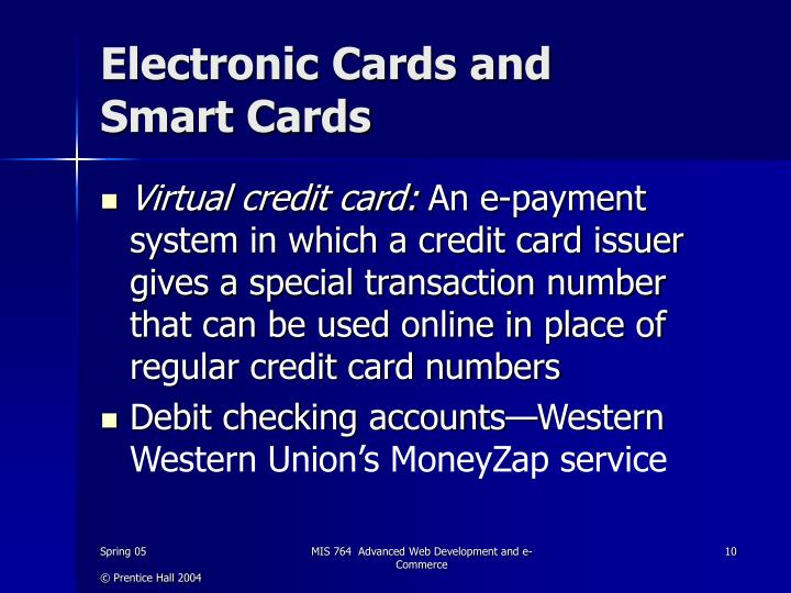 Electronic Cards and