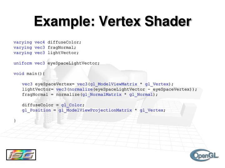 Example: Vertex Shader