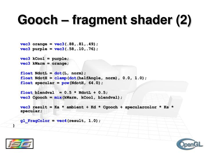 Gooch – fragment shader (2)