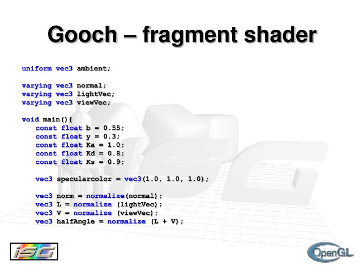Gooch – fragment shader