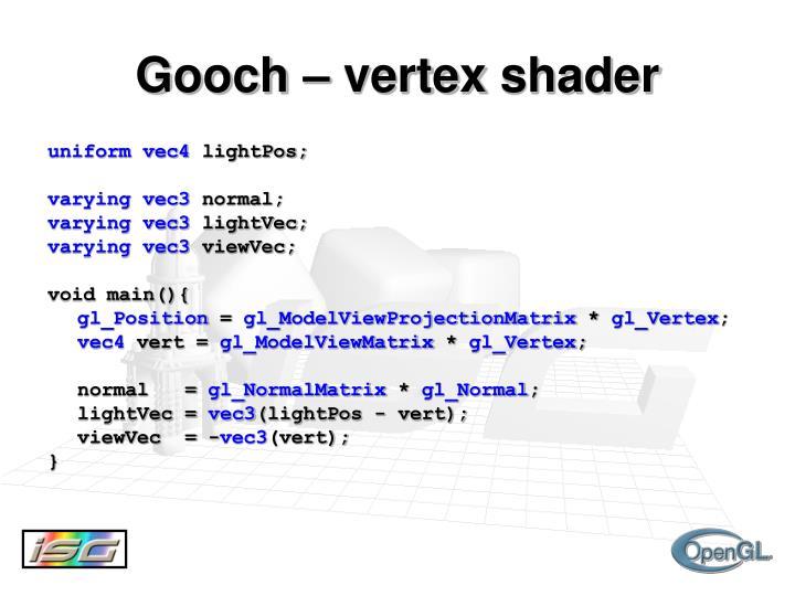 Gooch – vertex