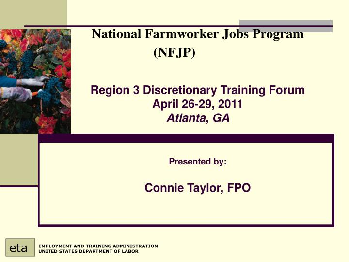 National farmworker jobs program nfjp