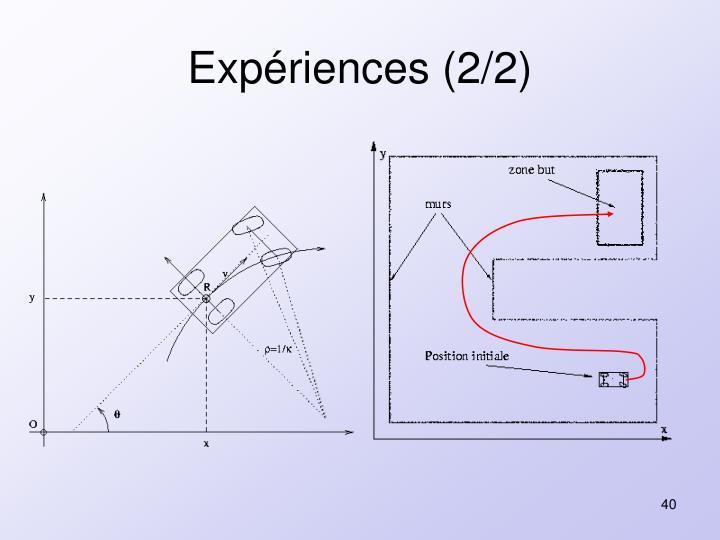 Expériences (2/2)