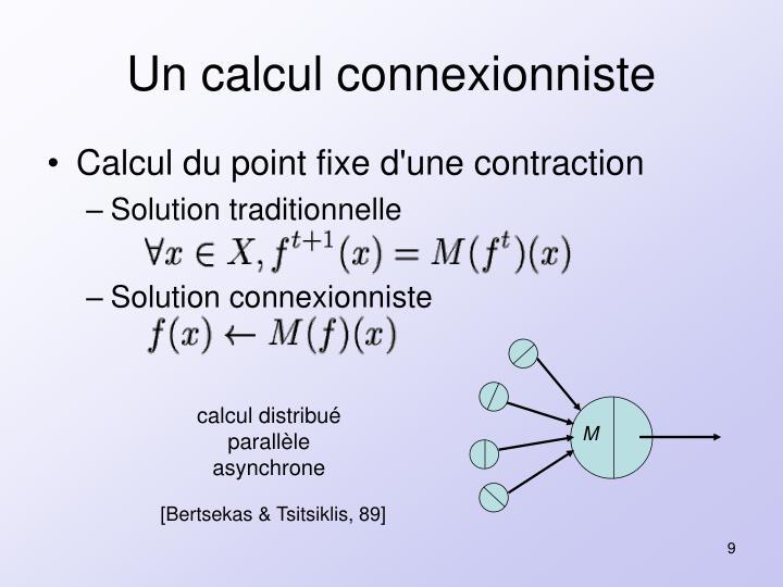 Un calcul connexionniste