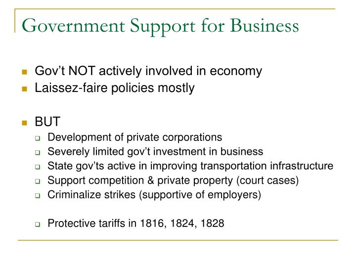 Government Support for Business