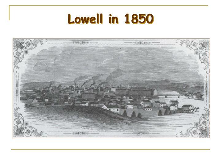 Lowell in 1850