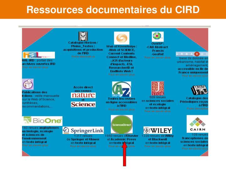 Ressources documentaires du CIRD