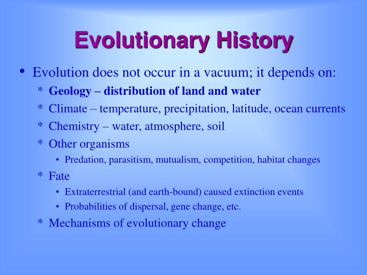 Evolutionary History