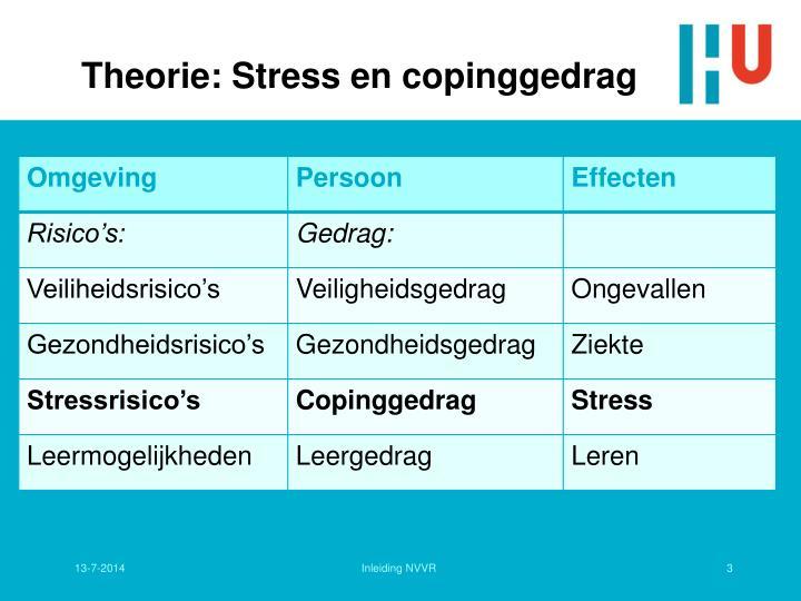 Theorie: Stress en copinggedrag