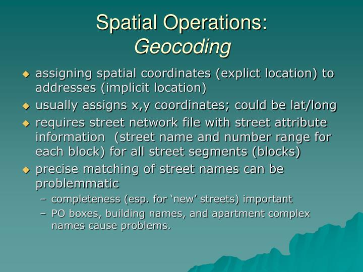 Spatial Operations: