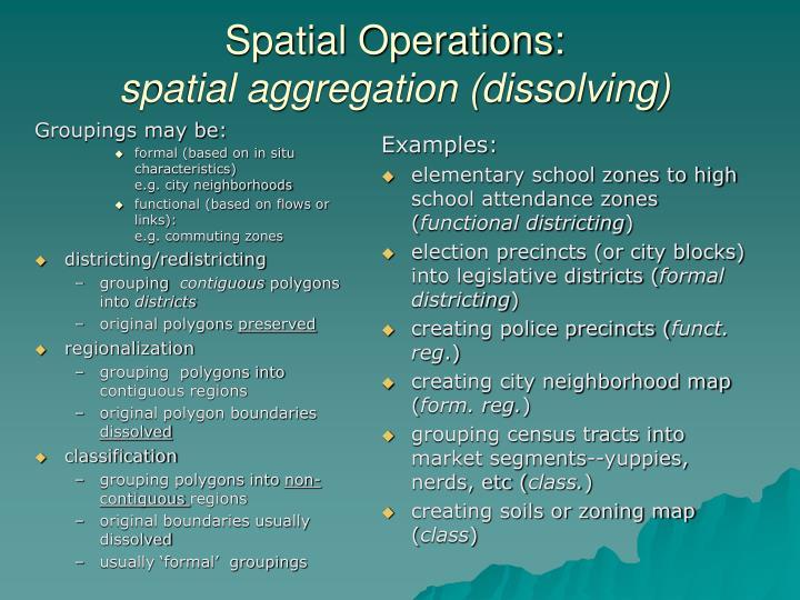 Groupings may be: