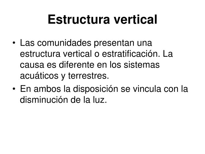 Estructura vertical