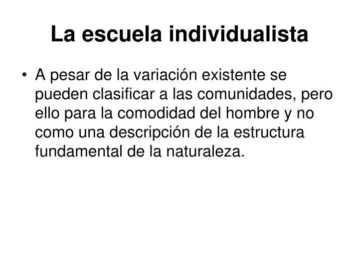 La escuela individualista