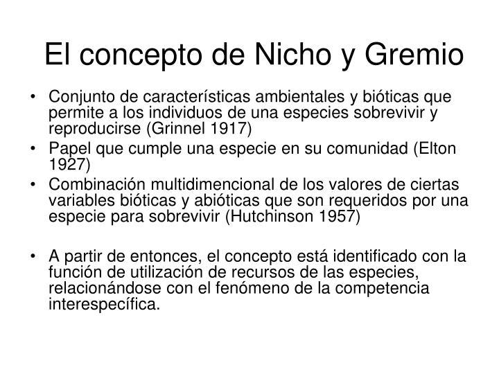 El concepto de Nicho y Gremio