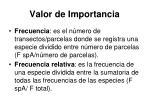 valor de importancia1