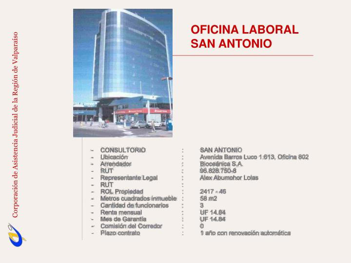 OFICINA LABORAL                                 SAN ANTONIO