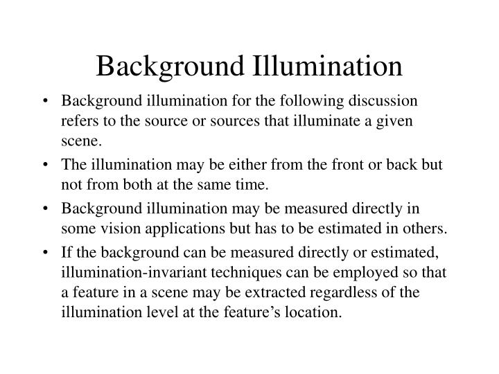 Background Illumination
