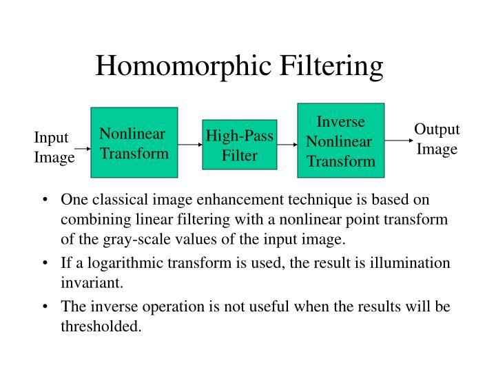 Homomorphic Filtering