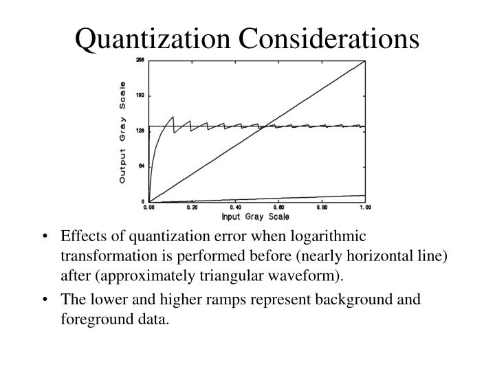 Quantization Considerations