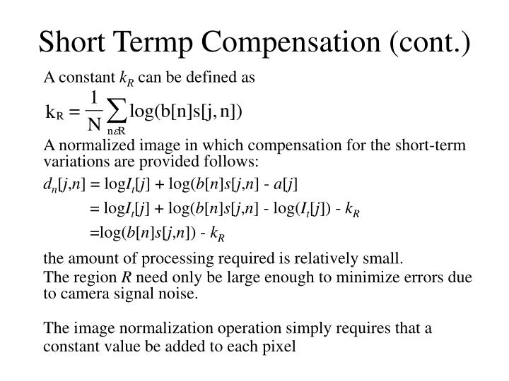 Short Termp Compensation (cont.)
