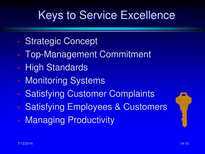 Keys to Service Excellence