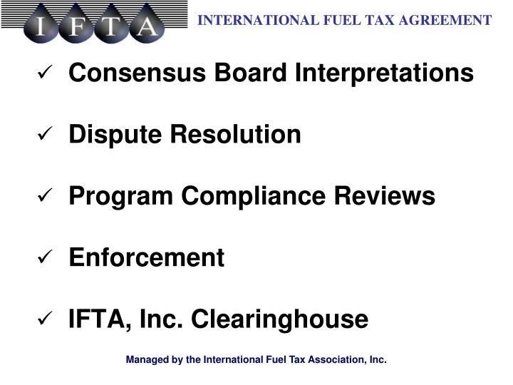 Consensus Board Interpretations