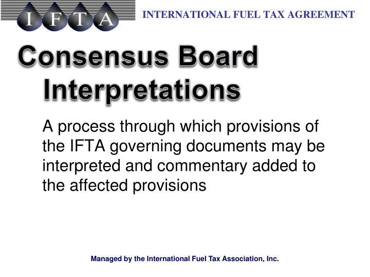 Consensus Board