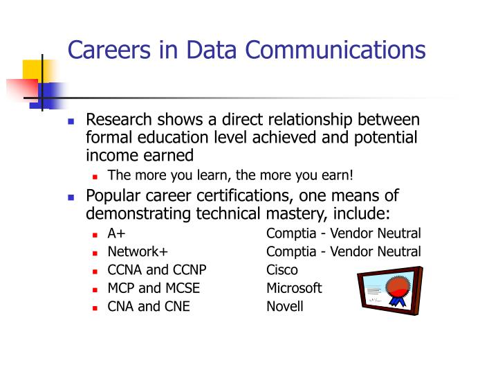 Careers in Data Communications