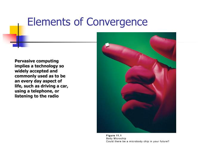 Elements of Convergence