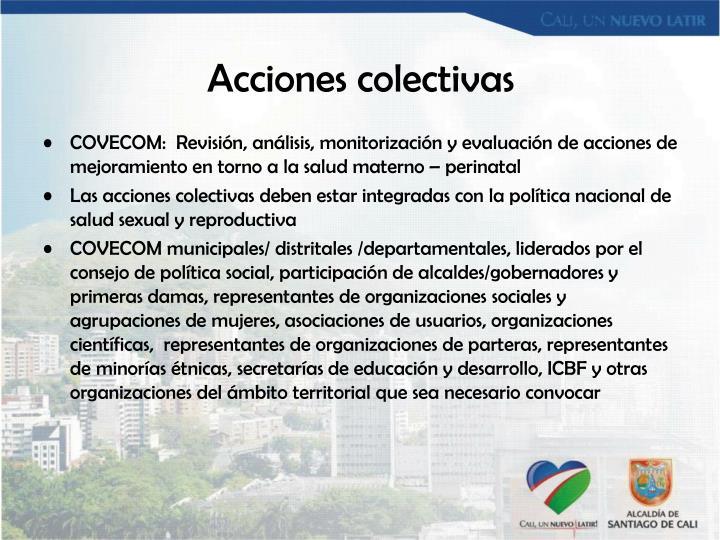 Acciones colectivas