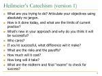 heilmeier s catechism version 1