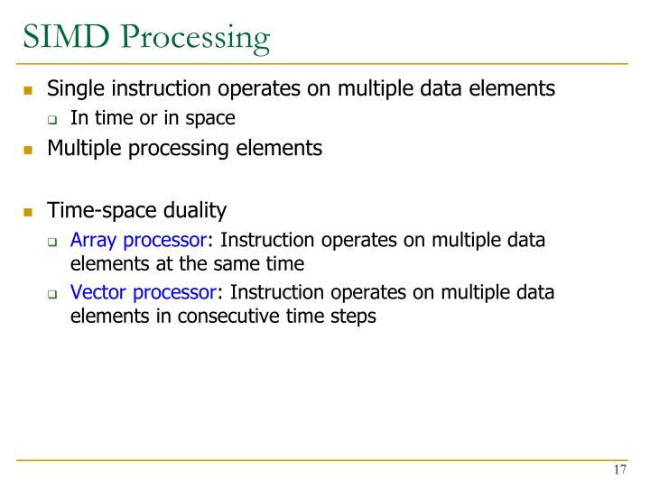 SIMD Processing