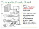 vector machine example cray 1