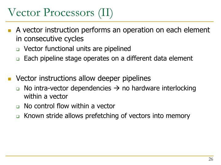 Vector Processors (II)
