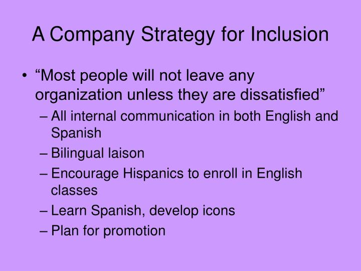 A Company Strategy for Inclusion