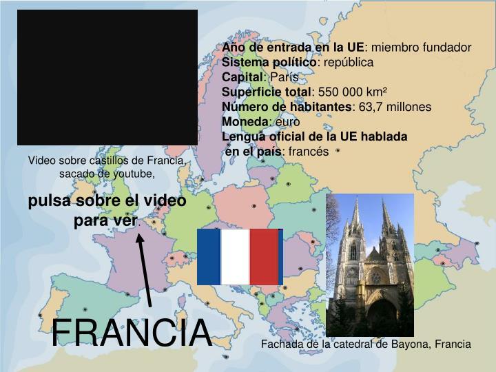 Fachada de la catedral de Bayona, Francia