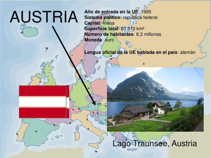 Lago Traunsee, Austria