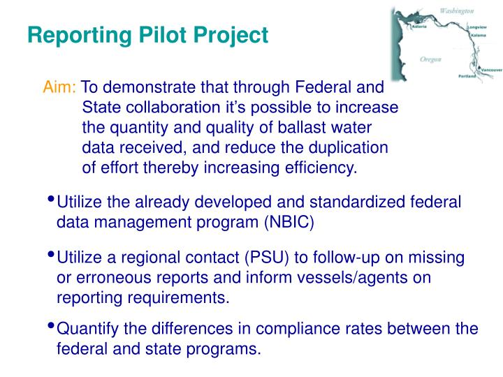 Reporting Pilot Project