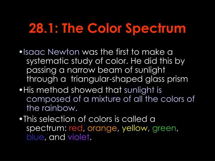 28.1: The Color Spectrum