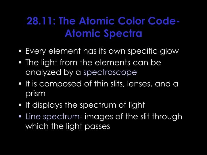 28.11: The Atomic Color Code- Atomic Spectra