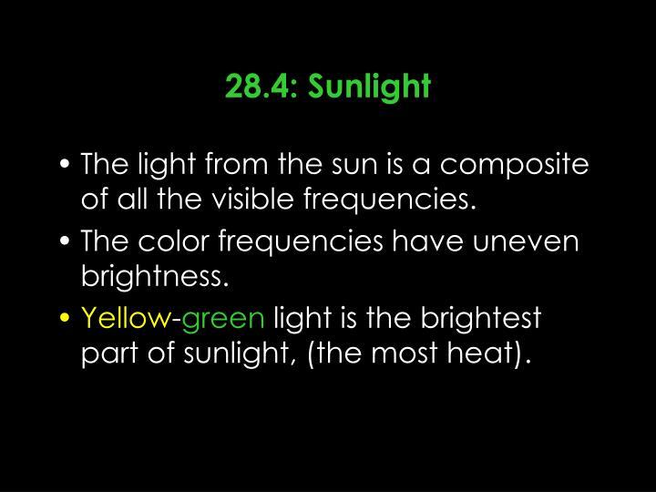28.4: Sunlight