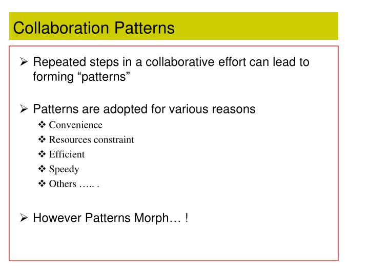 Collaboration Patterns