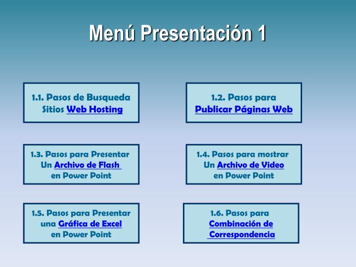 Menú Presentación 1