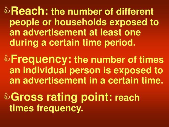 Reach: