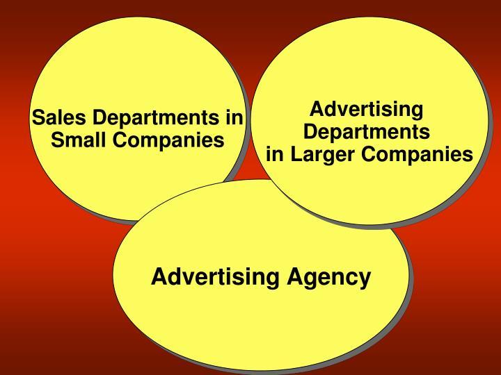 Sales Departments in