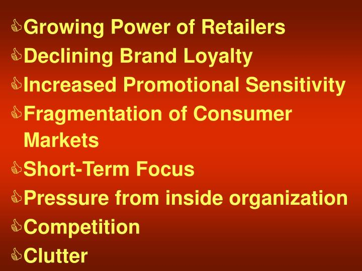 Growing Power of Retailers