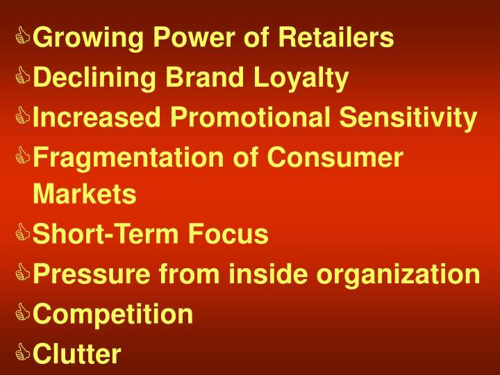 Growing Power of Retailers