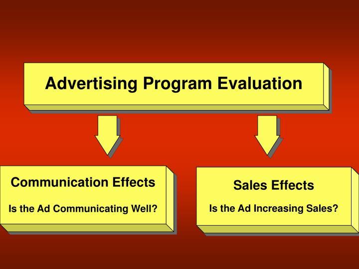 Advertising Program Evaluation